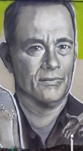TOM HANKS SPRAYCAN PORTRAIT