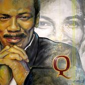 QUINCY JONES FREEHAND PORTRAIT 8FT X 8FT