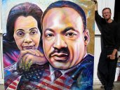 CORRETA SCOTT AND MARTIN LUTHER KING PORTRAITS