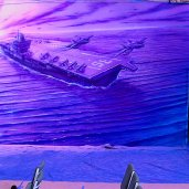PURPLE CARRIER NAVY MURAL