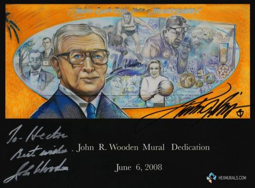 JOHN WOODEN HEX MURAL