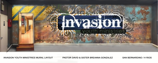 INVASION YOUTH MINISTRIES MURAL-1